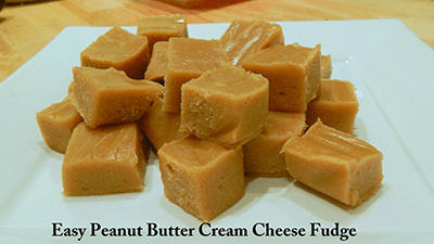 Easy Peanut Butter Cream Cheese Fudge