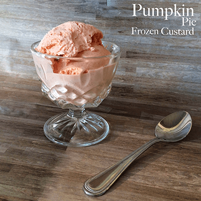 Pumpkin Pie Frozen Custard